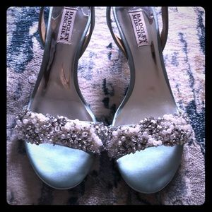 Badgley Mischka Blue Bling Heels - Sparkle! (NWOT)